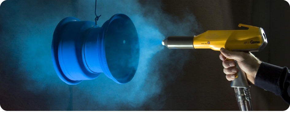 The method of checking the surface of powder coating